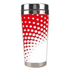 Polka Dot Circle Hole Red White Stainless Steel Travel Tumblers by Mariart