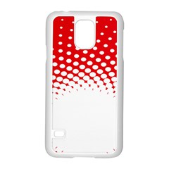 Polka Dot Circle Hole Red White Samsung Galaxy S5 Case (white) by Mariart