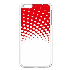 Polka Dot Circle Hole Red White Apple Iphone 6 Plus/6s Plus Enamel White Case by Mariart