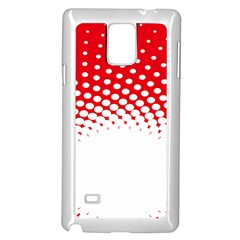 Polka Dot Circle Hole Red White Samsung Galaxy Note 4 Case (white) by Mariart