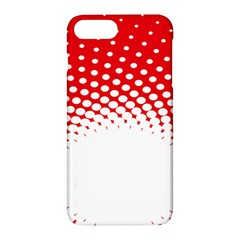 Polka Dot Circle Hole Red White Apple Iphone 7 Plus Hardshell Case by Mariart