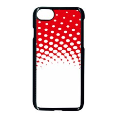 Polka Dot Circle Hole Red White Apple Iphone 7 Seamless Case (black) by Mariart