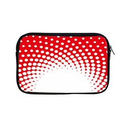 Polka Dot Circle Hole Red White Apple Macbook Pro 13  Zipper Case by Mariart