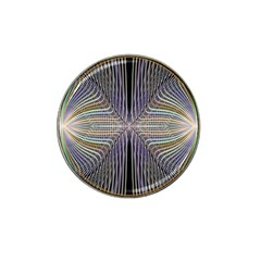 Color Fractal Symmetric Wave Lines Hat Clip Ball Marker by Simbadda