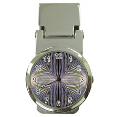 Color Fractal Symmetric Wave Lines Money Clip Watches