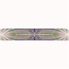 Color Fractal Symmetric Wave Lines Small Bar Mats by Simbadda