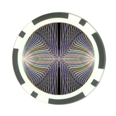 Color Fractal Symmetric Wave Lines Poker Chip Card Guard by Simbadda