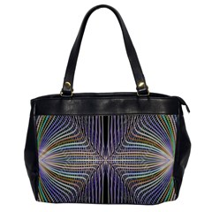 Color Fractal Symmetric Wave Lines Office Handbags by Simbadda