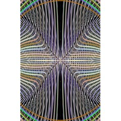 Color Fractal Symmetric Wave Lines 5 5  X 8 5  Notebooks by Simbadda