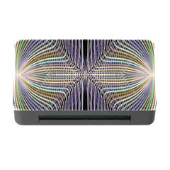 Color Fractal Symmetric Wave Lines Memory Card Reader With Cf