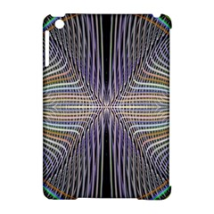 Color Fractal Symmetric Wave Lines Apple Ipad Mini Hardshell Case (compatible With Smart Cover)