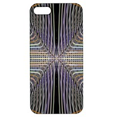 Color Fractal Symmetric Wave Lines Apple Iphone 5 Hardshell Case With Stand by Simbadda