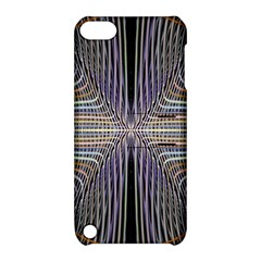 Color Fractal Symmetric Wave Lines Apple Ipod Touch 5 Hardshell Case With Stand by Simbadda