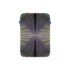 Color Fractal Symmetric Wave Lines Apple Ipad Mini Protective Soft Cases by Simbadda