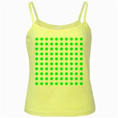 Polka Dot Green Yellow Spaghetti Tank