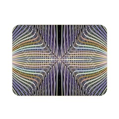 Color Fractal Symmetric Wave Lines Double Sided Flano Blanket (mini)