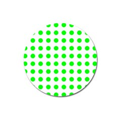 Polka Dot Green Magnet 3  (round) by Mariart