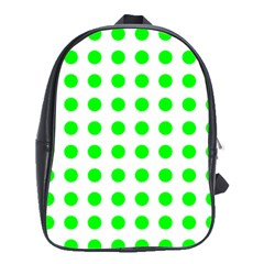 Polka Dot Green School Bags(large)