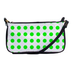 Polka Dot Green Shoulder Clutch Bags by Mariart