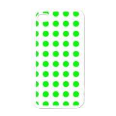 Polka Dot Green Apple Iphone 4 Case (white) by Mariart