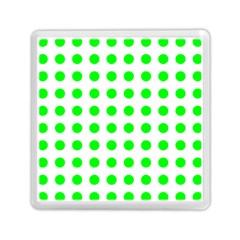 Polka Dot Green Memory Card Reader (square)  by Mariart