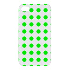 Polka Dot Green Apple Iphone 4/4s Hardshell Case by Mariart