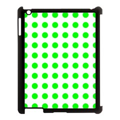 Polka Dot Green Apple Ipad 3/4 Case (black) by Mariart
