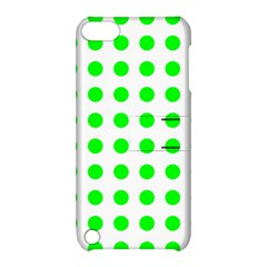 Polka Dot Green Apple Ipod Touch 5 Hardshell Case With Stand by Mariart