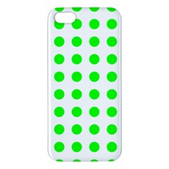 Polka Dot Green Iphone 5s/ Se Premium Hardshell Case by Mariart