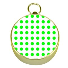 Polka Dot Green Gold Compasses