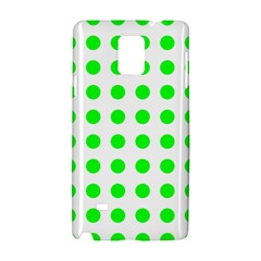 Polka Dot Green Samsung Galaxy Note 4 Hardshell Case by Mariart
