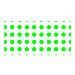 Polka Dot Green Satin Wrap