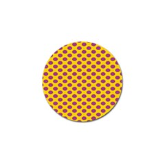 Polka Dot Purple Yellow Orange Golf Ball Marker (10 Pack) by Mariart