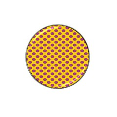 Polka Dot Purple Yellow Orange Hat Clip Ball Marker by Mariart
