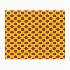 Polka Dot Purple Yellow Orange Small Glasses Cloth (2 Side) by Mariart