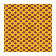 Polka Dot Purple Yellow Orange Medium Glasses Cloth (2 Side) by Mariart