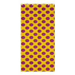 Polka Dot Purple Yellow Orange Shower Curtain 36  X 72  (stall)  by Mariart
