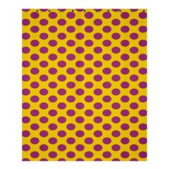 Polka Dot Purple Yellow Orange Shower Curtain 60  X 72  (medium)  by Mariart