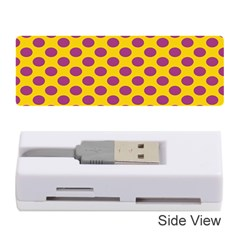 Polka Dot Purple Yellow Orange Memory Card Reader (stick)  by Mariart