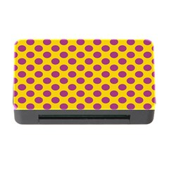 Polka Dot Purple Yellow Orange Memory Card Reader With Cf by Mariart