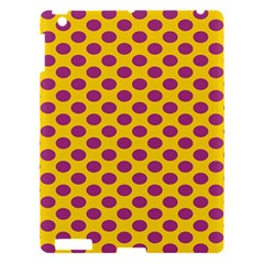 Polka Dot Purple Yellow Orange Apple Ipad 3/4 Hardshell Case by Mariart