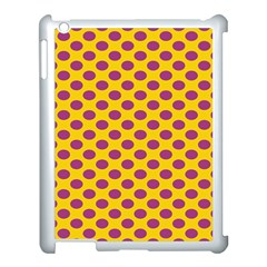 Polka Dot Purple Yellow Orange Apple Ipad 3/4 Case (white) by Mariart
