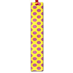 Polka Dot Purple Yellow Orange Large Book Marks by Mariart