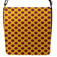 Polka Dot Purple Yellow Orange Flap Messenger Bag (s) by Mariart