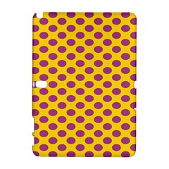 Polka Dot Purple Yellow Orange Galaxy Note 1 by Mariart
