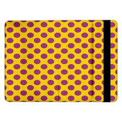 Polka Dot Purple Yellow Orange Samsung Galaxy Tab Pro 12 2  Flip Case by Mariart