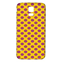 Polka Dot Purple Yellow Orange Samsung Galaxy S5 Back Case (white) by Mariart