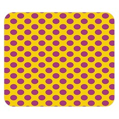 Polka Dot Purple Yellow Orange Double Sided Flano Blanket (small)  by Mariart