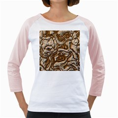 Fractal Background Mud Flow Girly Raglans