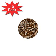 Fractal Background Mud Flow 1  Mini Buttons (10 Pack)  by Simbadda